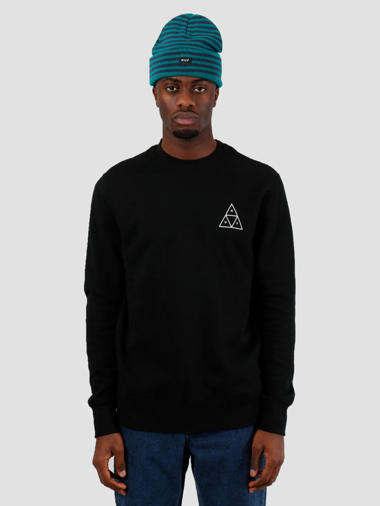 HUF Essentials TT Crew Black PF00101