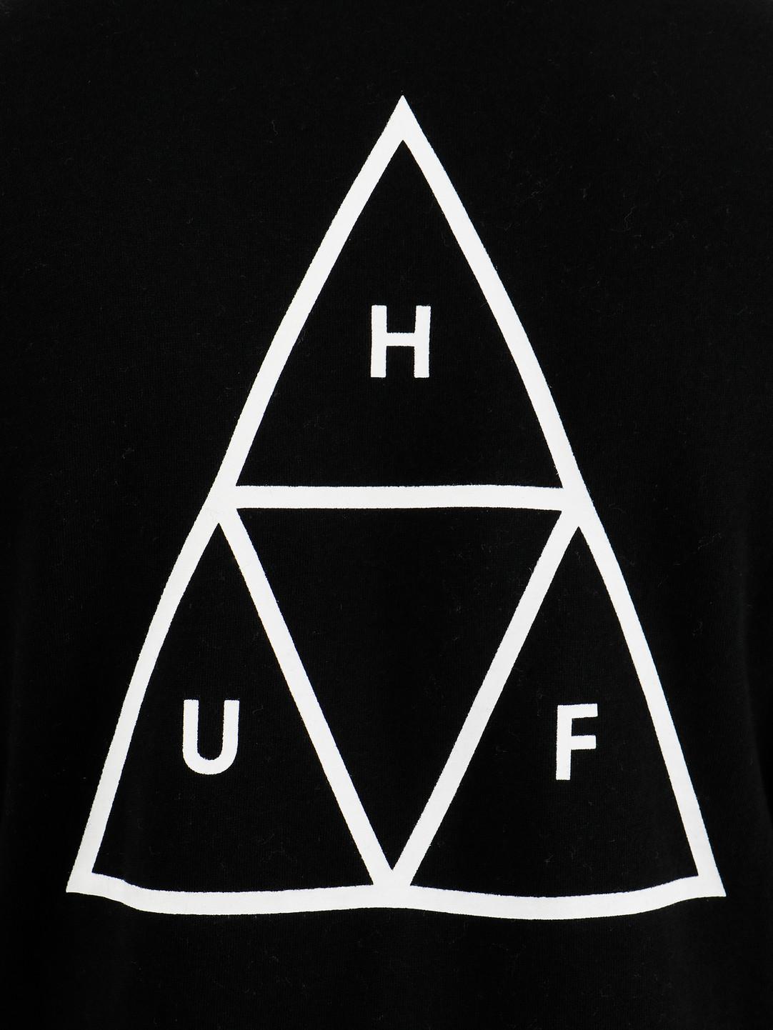 HUF HUF Essentials TT Crew Black PF00101