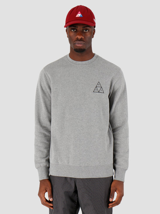 HUF Essentials Tt Crew Grey Heather Pf00101Gyhtrxs