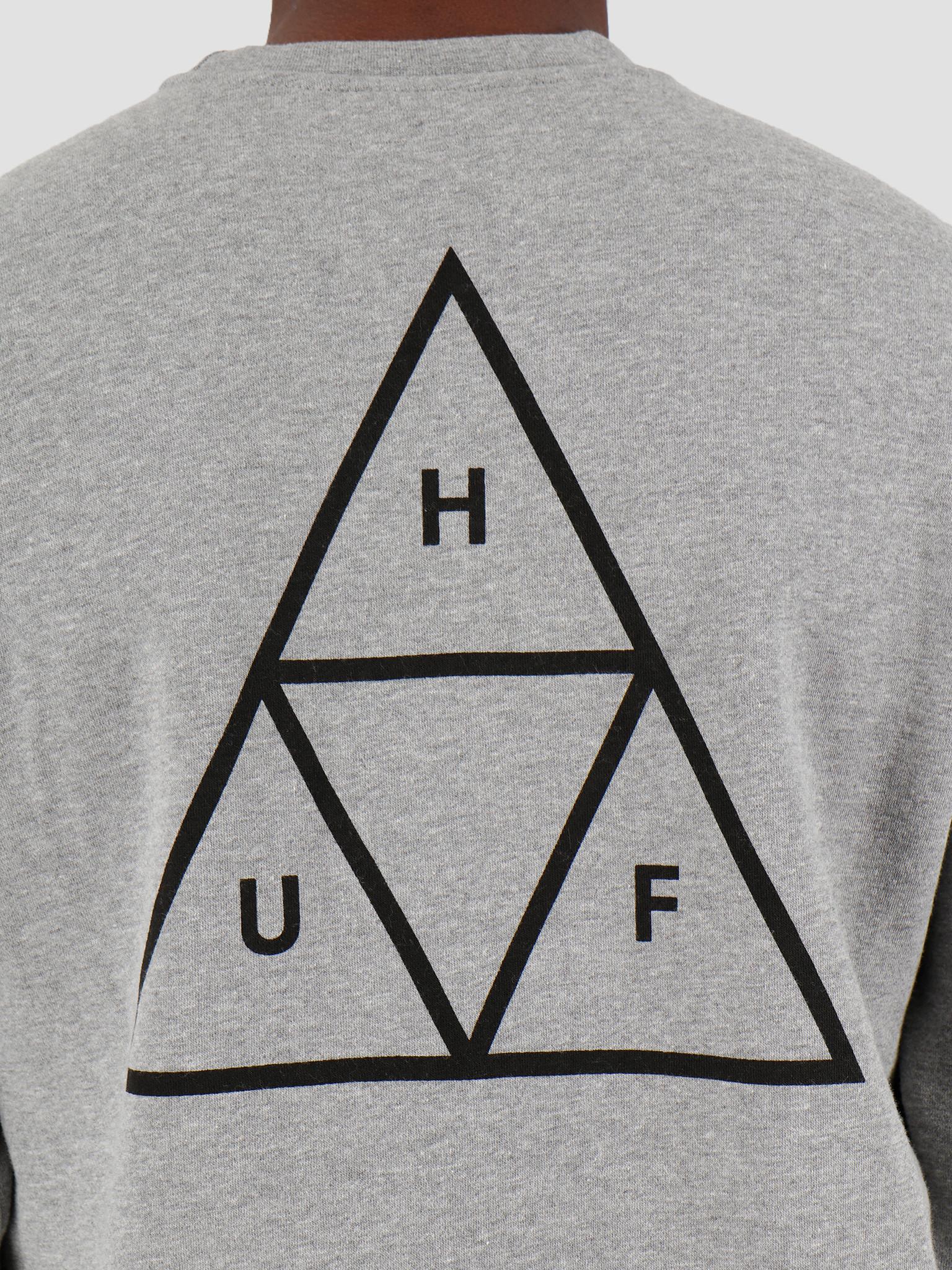 HUF HUF Essentials Tt Crew Grey Heather Pf00101Gyhtrxs