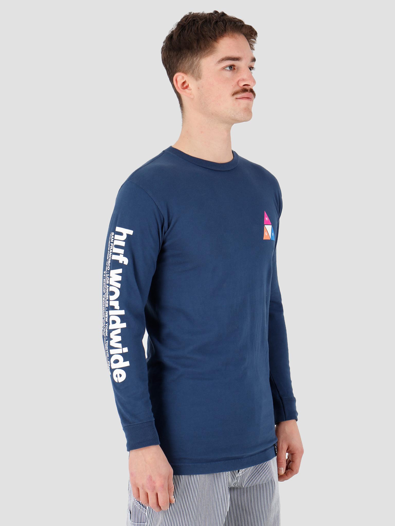 HUF HUF Prism Tt Longsleeve Tee Insignia Blue Ts00938Iablu