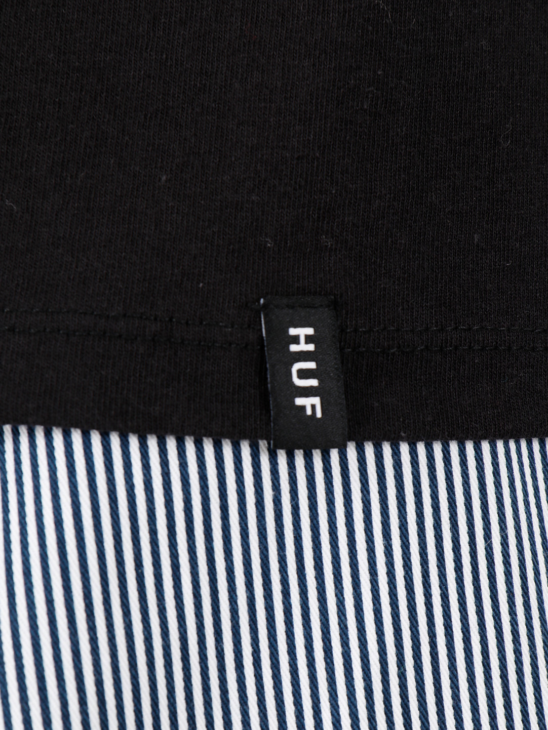 HUF HUF Short Term Longsleeve Pocket Tee Black Ts00886Black