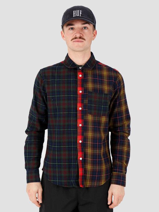 HUF Swire Longsleeve Woven Shirt Poppy Bu00060Poppy
