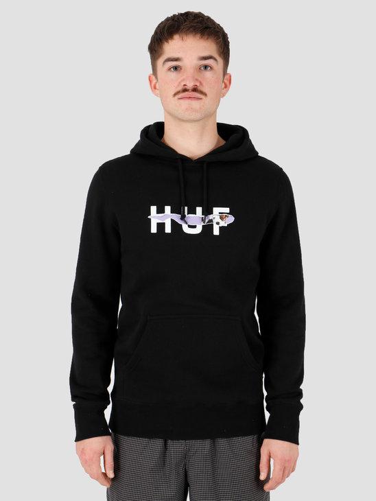 HUF Vicious Po Hoodie Black Pf00131Black