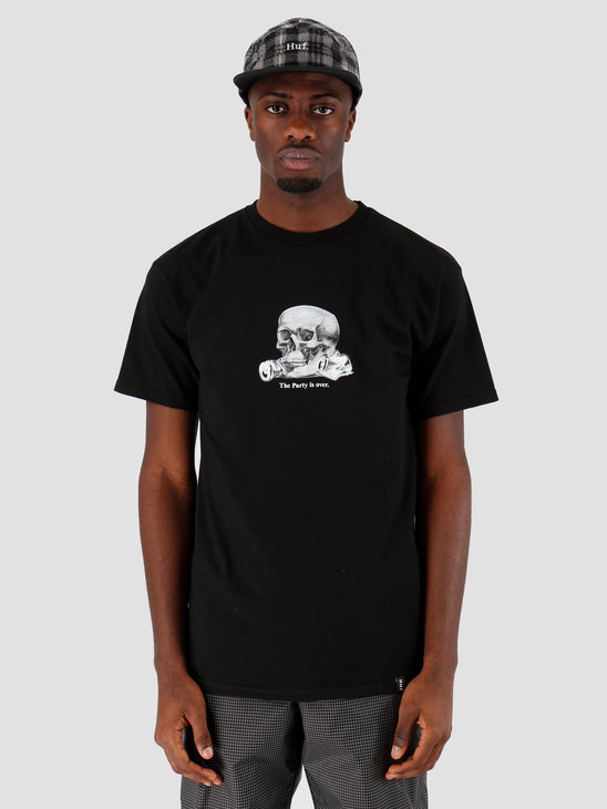 HUF Partys Over Ss Tee Black Ts00898Black