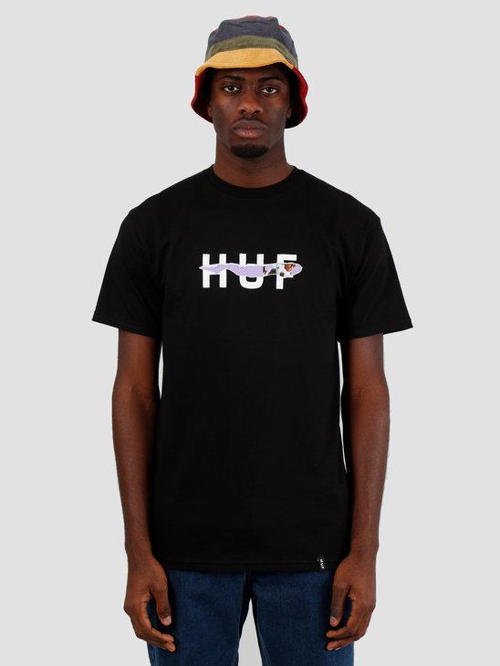 HUF Vicious Ss Tee Black Ts00896Black