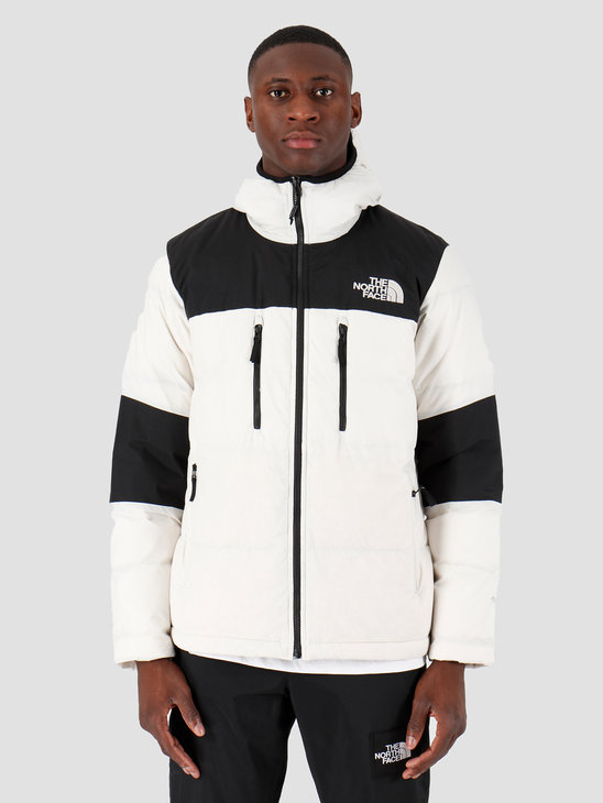 The North Face Himalayan Light Down Hoodie Moonlight Ivory Black T93OEDQG2