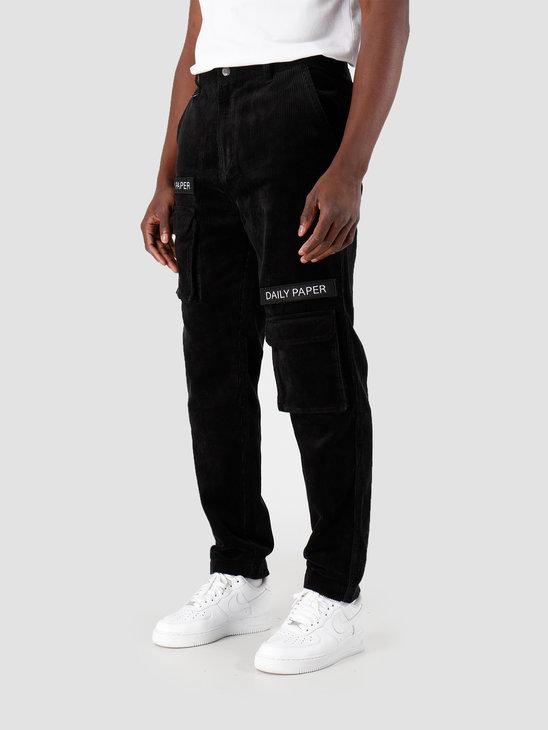 Daily Paper Cargo Pants Corduroy Black 19H1PA0204