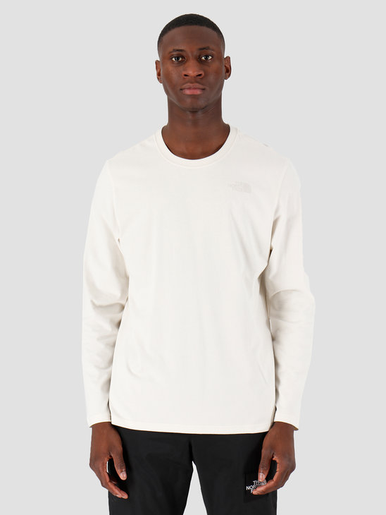 The North Face Longsleeve Easy Vintage White Vintage White T92TX1K82
