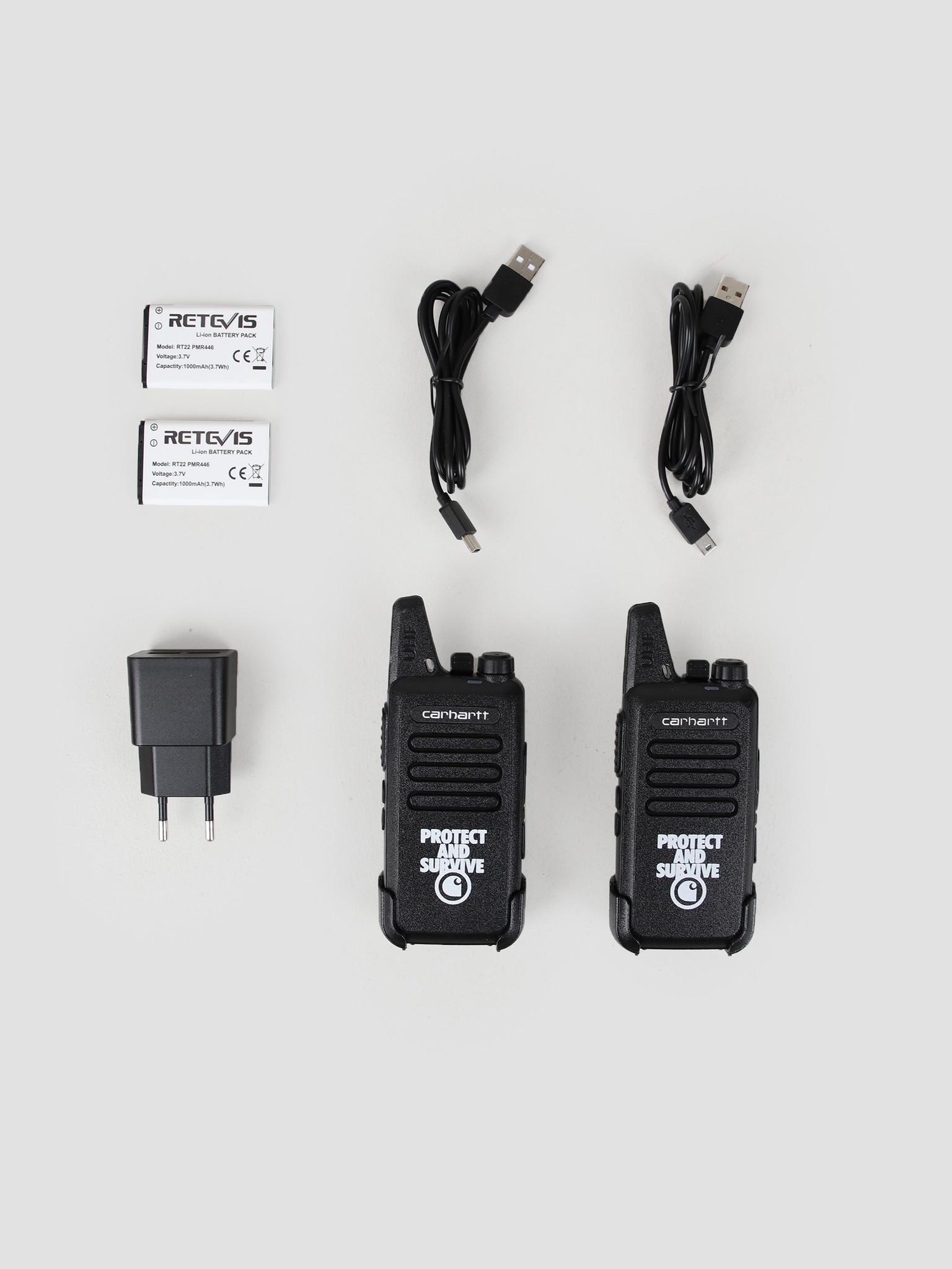Carhartt WIP Carhartt WIP Protect Survive Walkie Talkie Black I027449