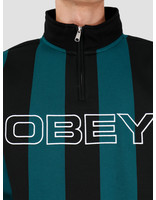 Obey Obey Goal Zip Mock Neck Deep Teal Multi 111620057Dpt