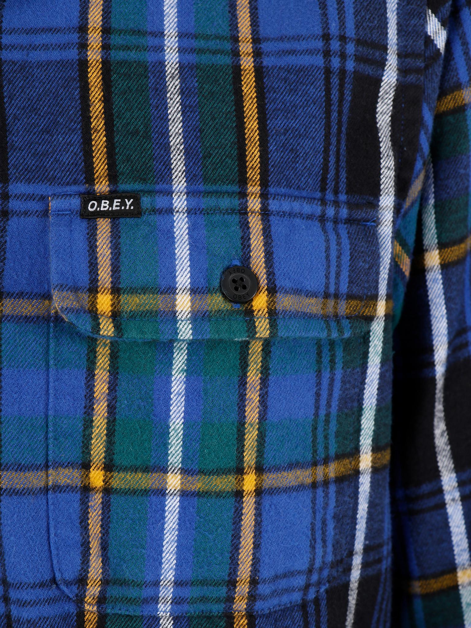 Obey Obey Russel Woven Blue Multi 181200279Bmu