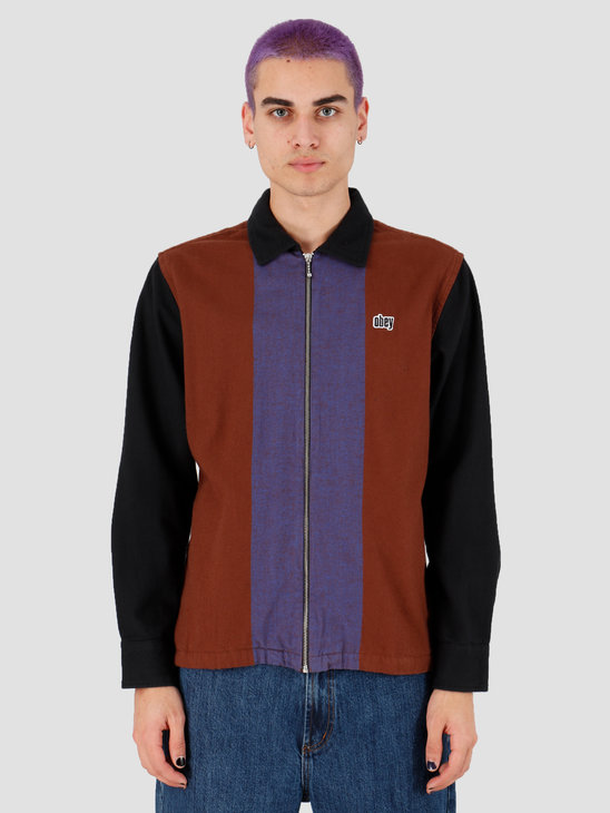 Obey Shields Zip Brown Multi 181200280Bwm