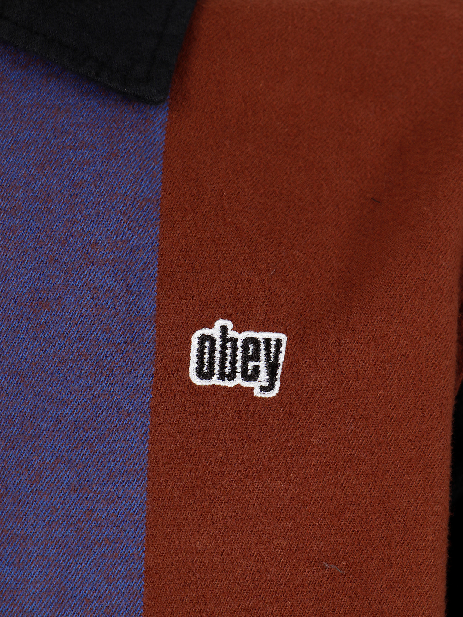 Obey Obey Shields Zip Brown Multi 181200280Bwm