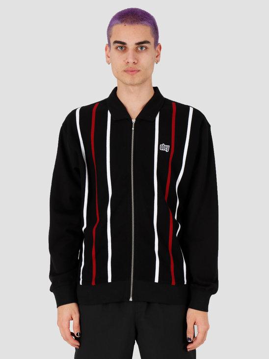 Obey Slick Zip Polo Black Multi 111620056Bkm
