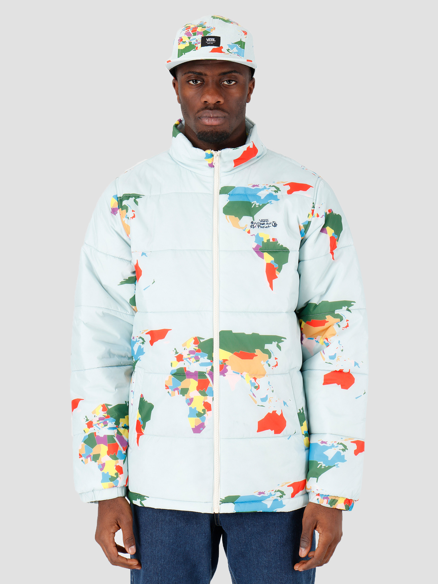 Vans Vans Save Our Planet Puffer  Blue Save Our Planet VN0A49NQZSD1
