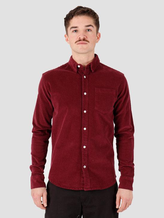Kronstadt Johan Corduroy Shirt Bordeaux KS2788