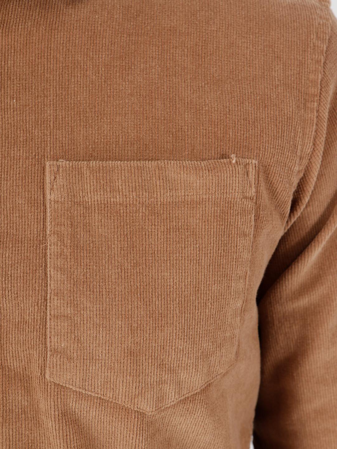 Kronstadt Kronstadt Johan Corduroy Shirt Brown KS2788