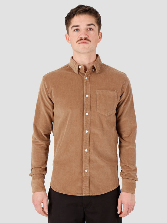Kronstadt Johan Corduroy Shirt Brown KS2788