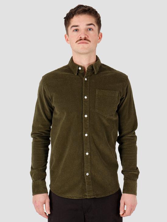 Kronstadt Johan Corduroy Shirt Olive Green KS2788