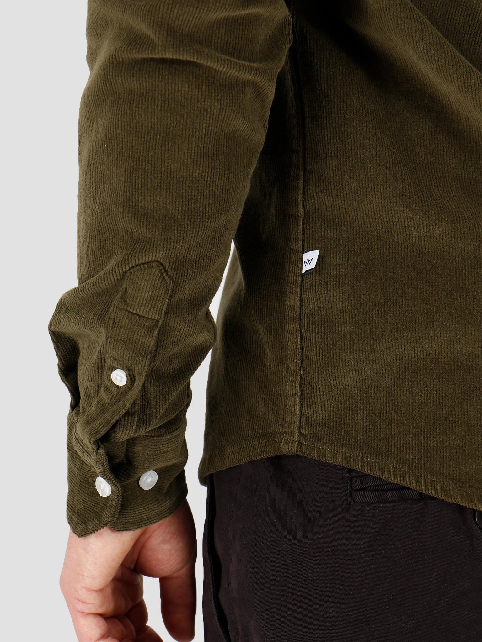 Kronstadt Kronstadt Johan Corduroy Shirt Olive Green KS2788