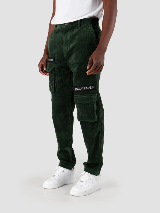 Daily Paper Cargo Pants Corduroy Mountain View Green 19H1PA0201