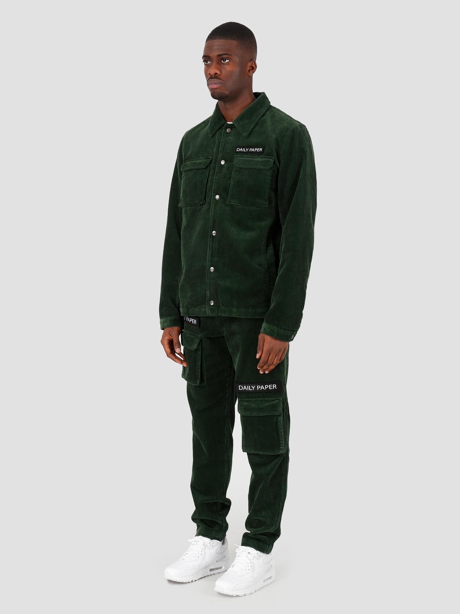 Daily Paper Daily Paper Cargo Jacket Corduroy Mountain View Green 19H1OU01-01