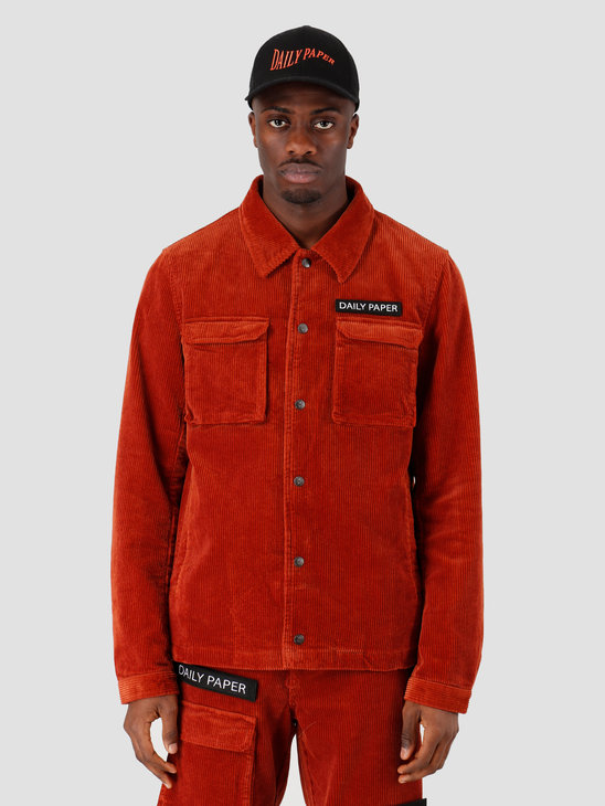 Daily Paper Cargo Jacket Corduroy Arabian Spice Orange 19H1OU01-03