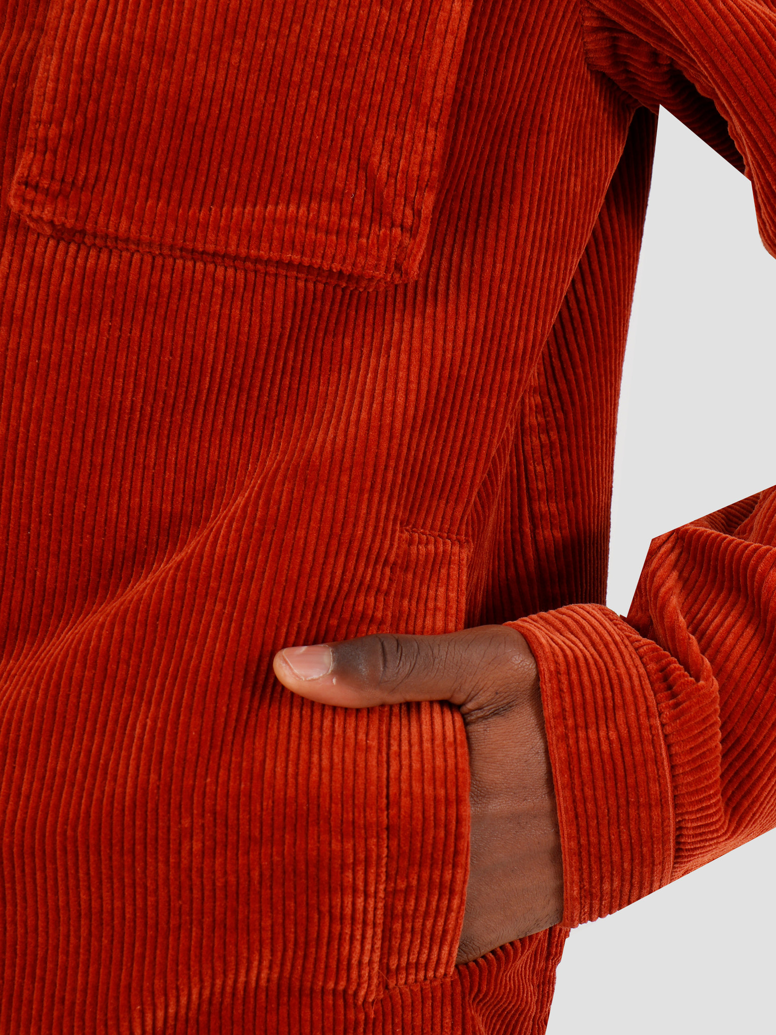 Daily Paper Daily Paper Cargo Jacket Corduroy Arabian Spice Orange 19H1OU01-03