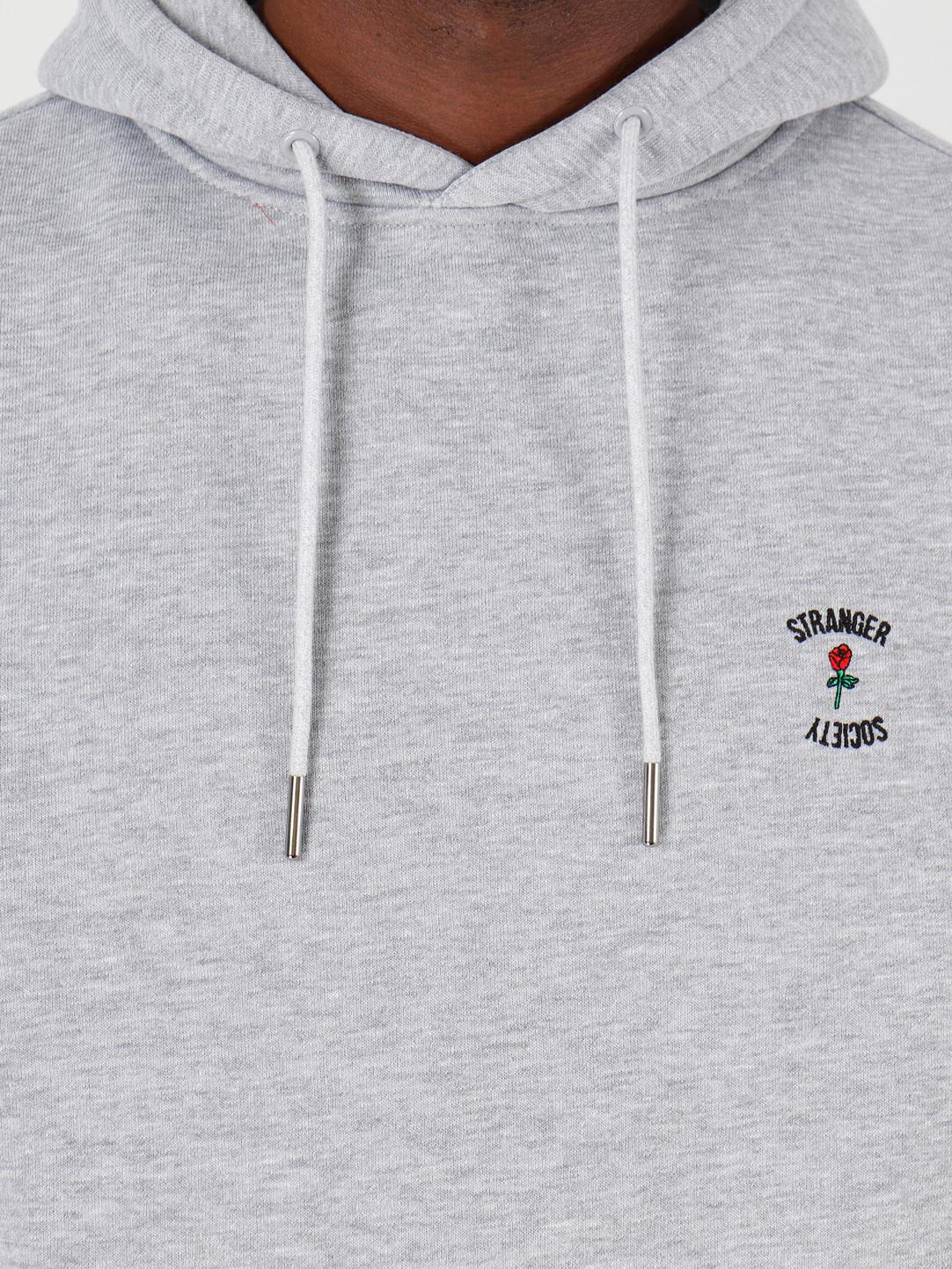 Stranger Society Stranger Society Crew Logo Hoodie Grey
