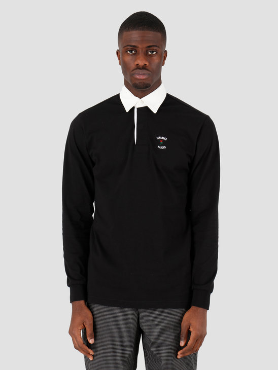 Stranger Society Rugby Polo Black