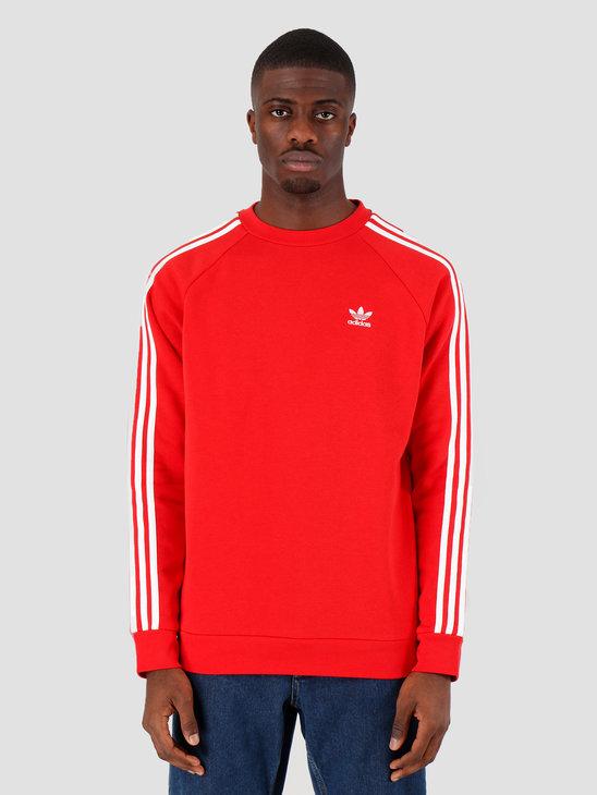 adidas 3-Stripes Crew Lush Red FM3761
