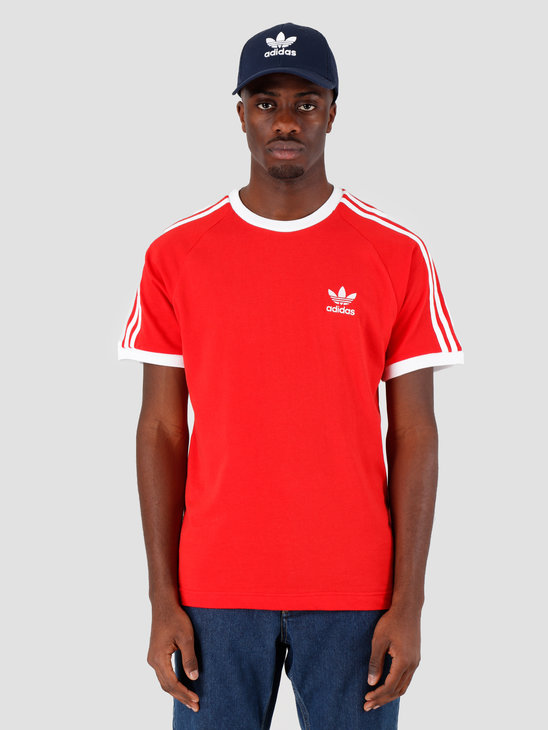 adidas 3-Stripes Tee Lush Red FM3770