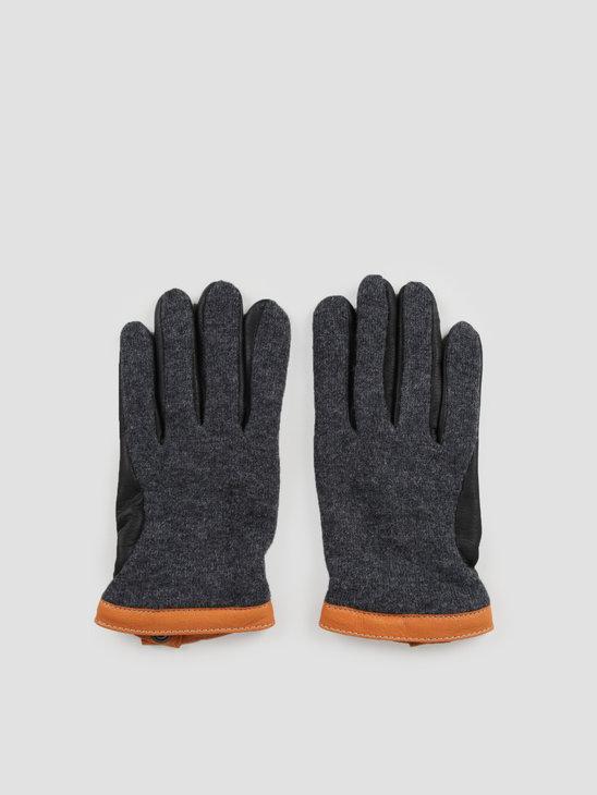 Hestra Deerskin Wool Tricot Charcoal Black 20450
