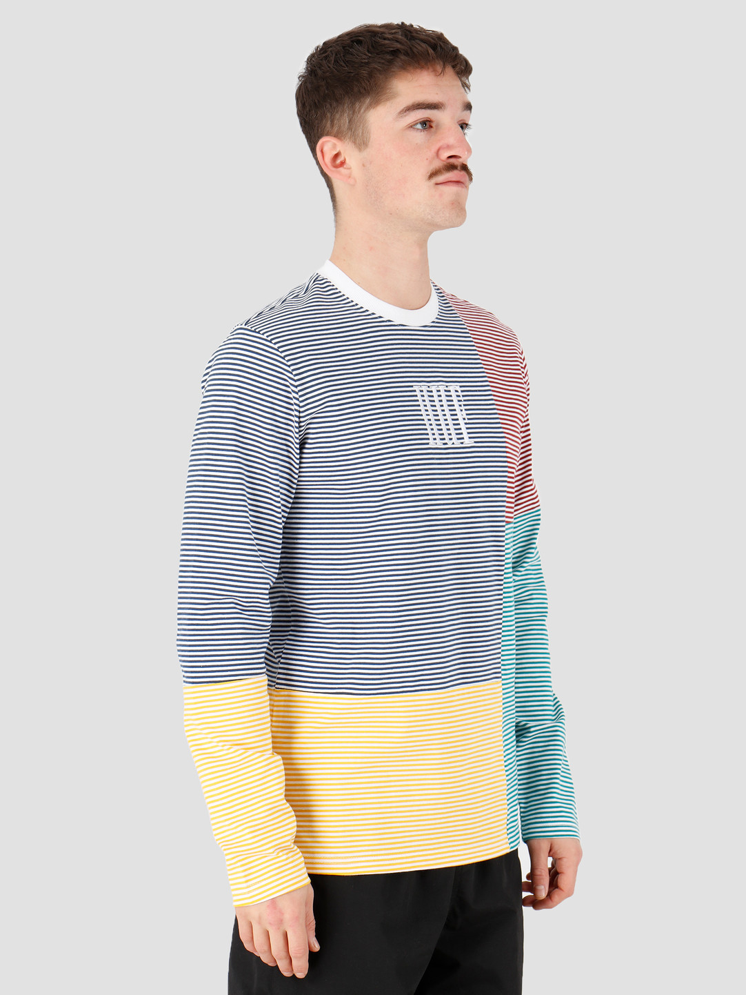 HUF HUF Vilmos Stripe Longsleeve Knit Top White Kn00138White