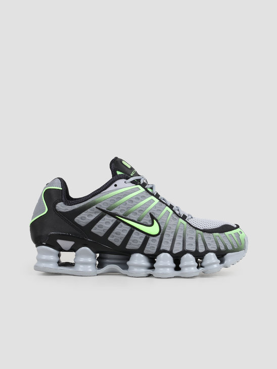 Nike Shox Tl Wolf Grey Lime Blast Black AV3595-005