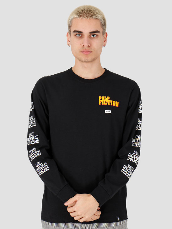 HUF Bad Mother Fucker Longsleeve Tee Black TS01309
