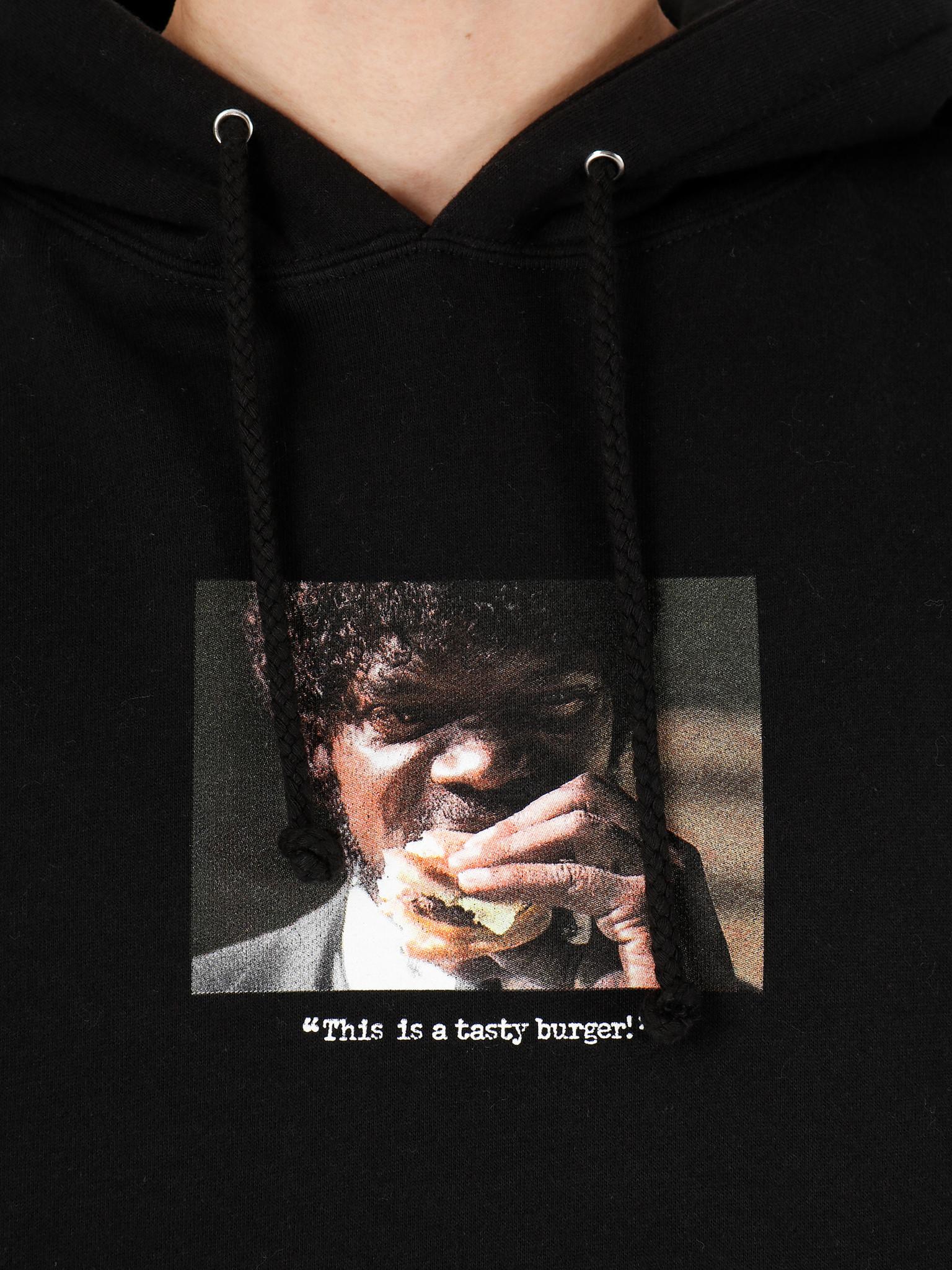 HUF HUF Burger Printable Pullover Hoodie Black PF00339