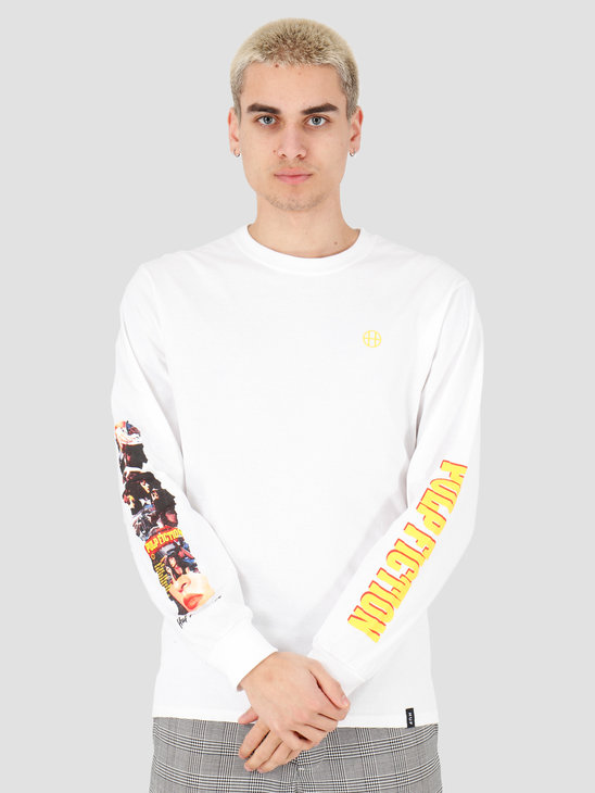 HUF Collage Longsleeve Tee White TS01308