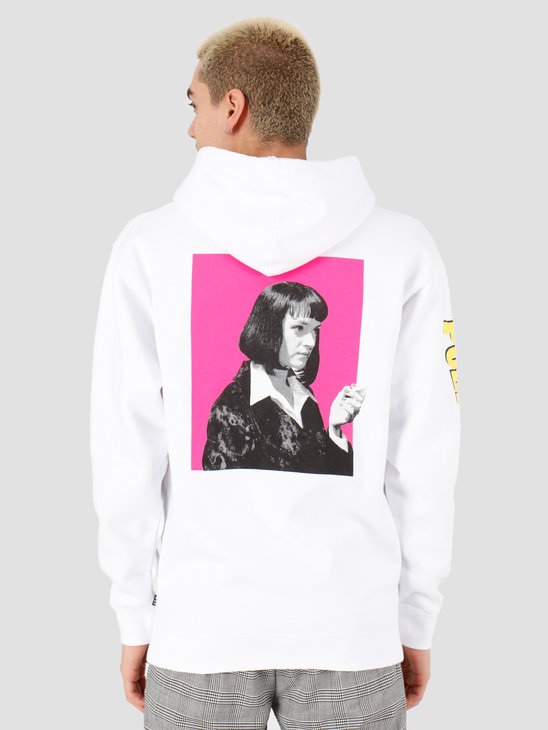 HUF Pulp Fiction Mia Printable Pullover Hoodie White PF00337