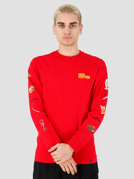 HUF Pulp Props Longsleeve Tee Red TS01307