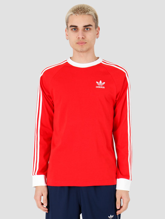 adidas 3-Stripes Longsleeve Lush Red FM3776