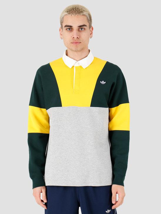 adidas Rugby Shirt Super Yellow Grey Heather Green Night FM2213