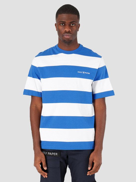 Daily Paper Striped T-Shirt Olympian Blue Stripe 20E1TS03-01