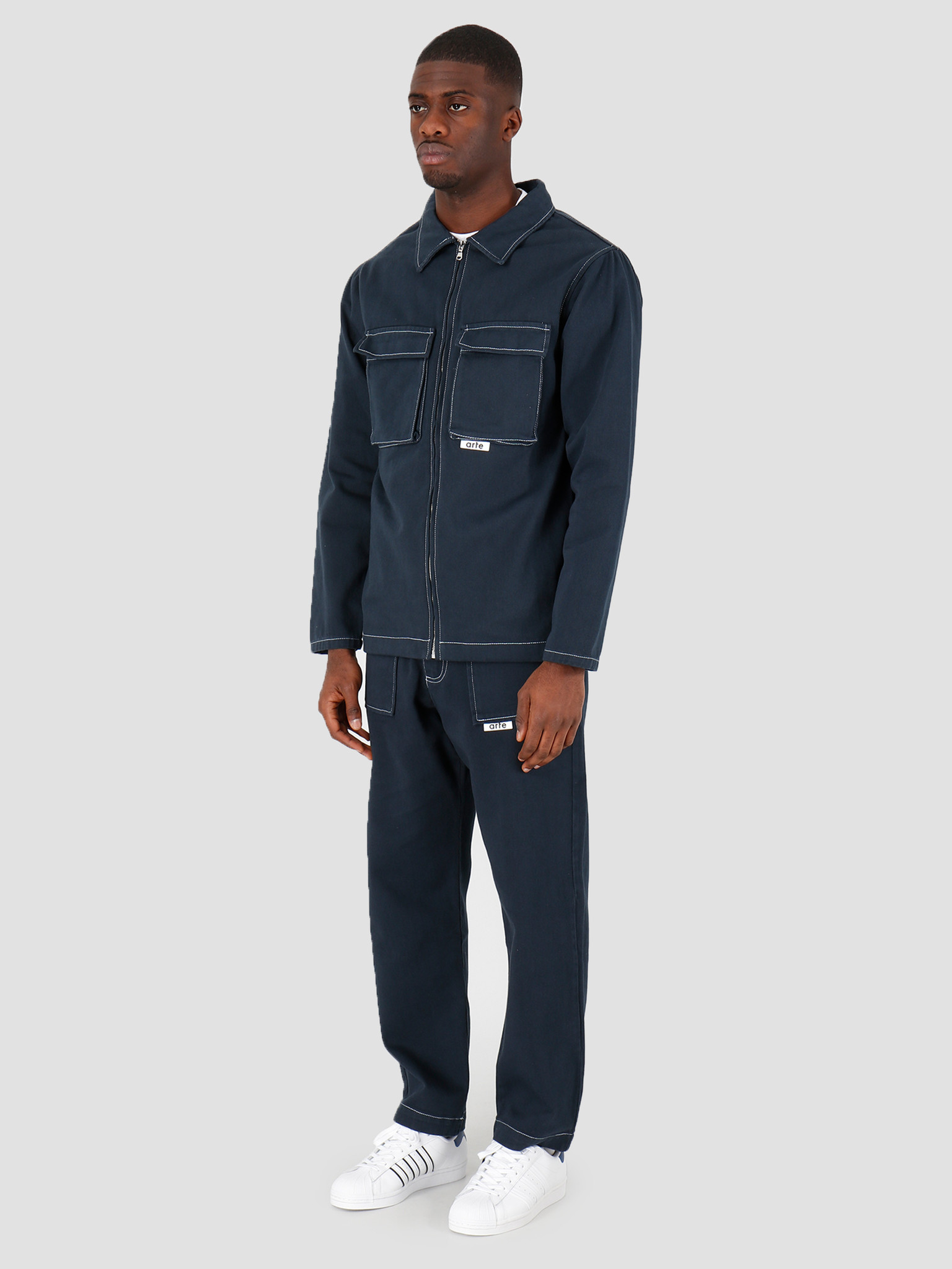 Arte Antwerp Arte Antwerp Joe Jacket Navy SS20-039J