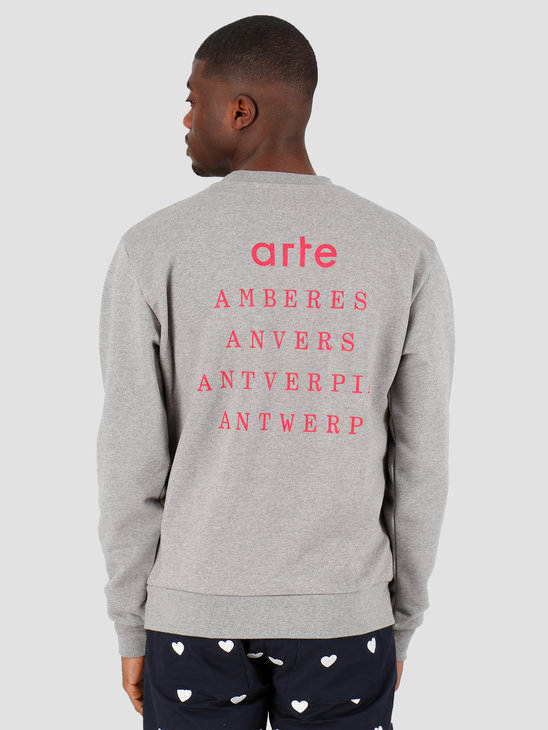 Arte Antwerp Chuck Antverpia Sweater Grey Melange SS20-031C