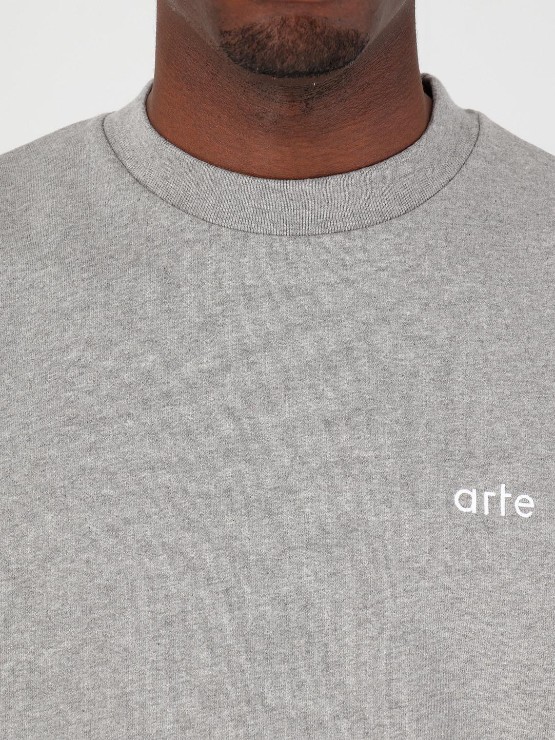 Arte Antwerp Arte Antwerp Chuck Logo Sweater Grey SS20-009C