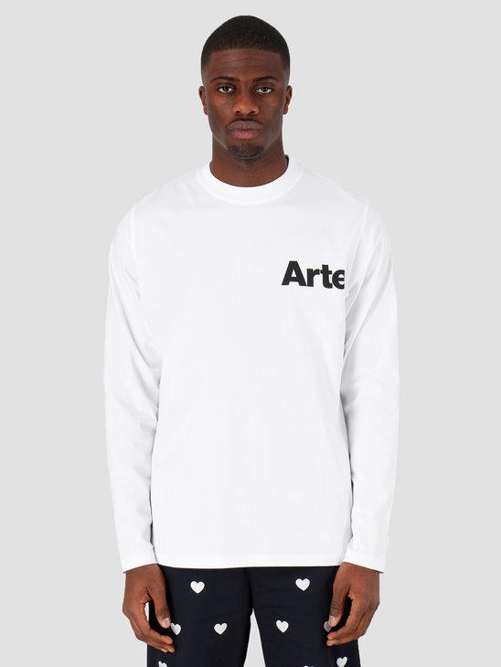 Arte Antwerp Larry Logo Longsleeve White SS20-028LS