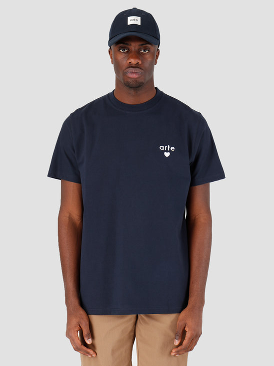 Arte Antwerp Thomas Heart T-shirt Navy SS20-025T