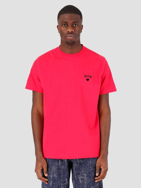 Arte Antwerp Thomas Heart T-shirt Pink SS20-025T